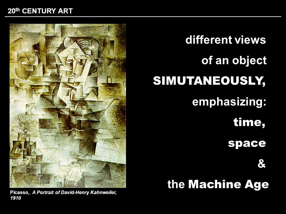 different views of an object SIMUTANEOUSLY, emphasizing: time, space &