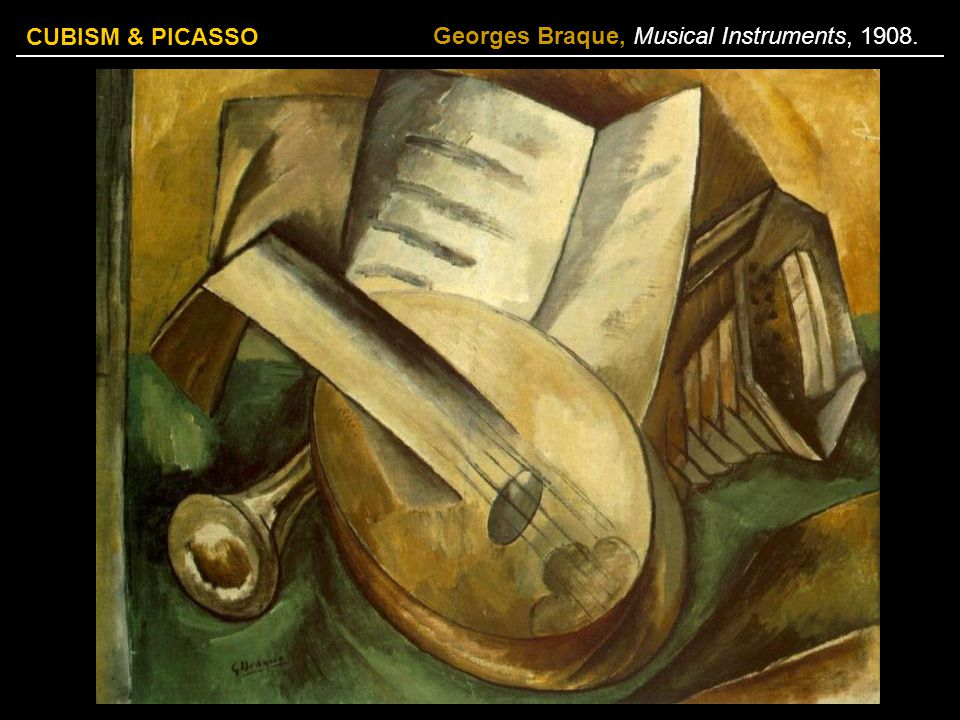 Georges Braque, Musical Instruments, 1908.