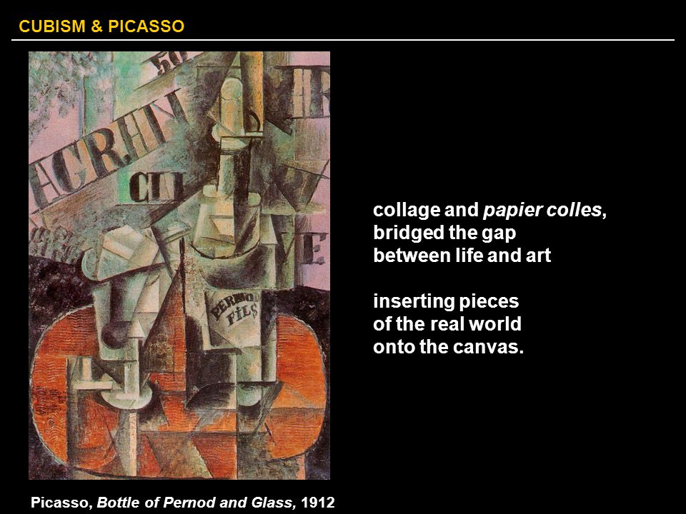 Picasso, Bottle of Pernod and Glass, 1912