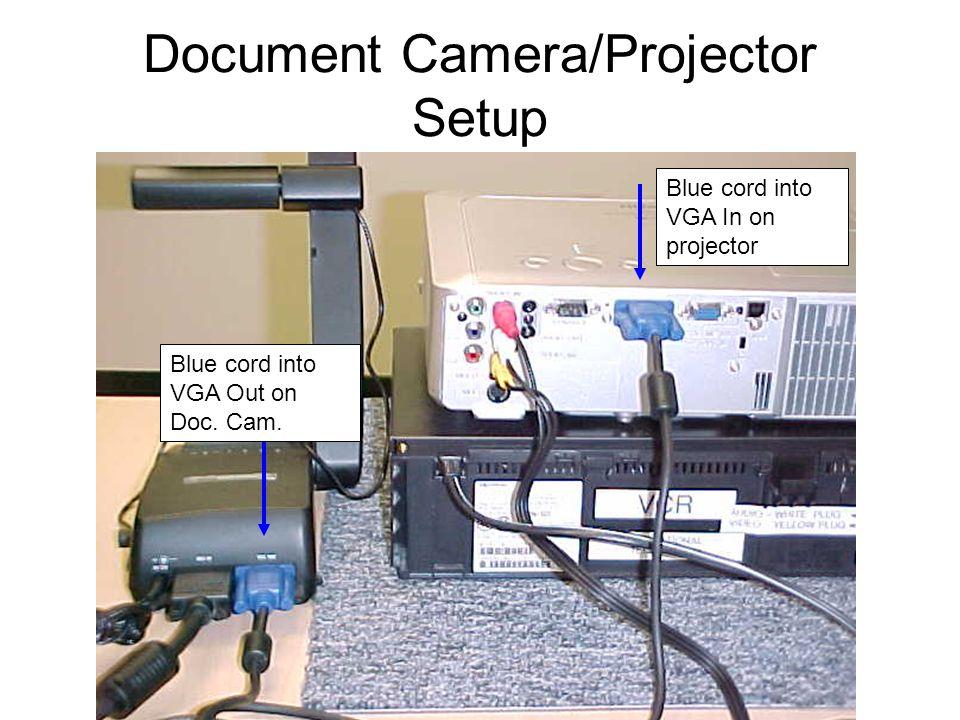 Document Camera/Projector Setup