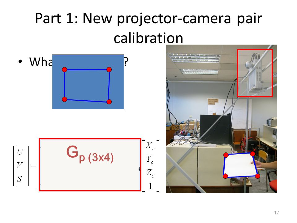 Part 1: New projector-camera pair calibration