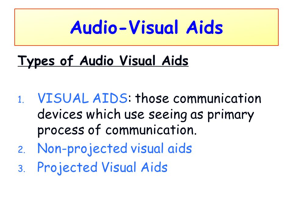 Audio-Visual Aids Types of Audio Visual Aids