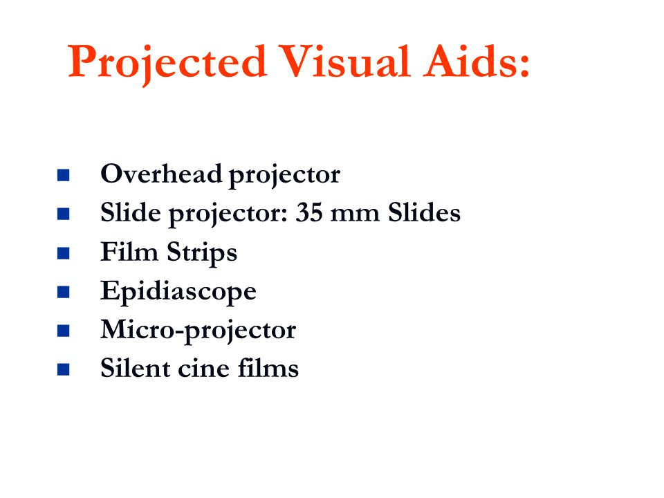 Projected Visual Aids: