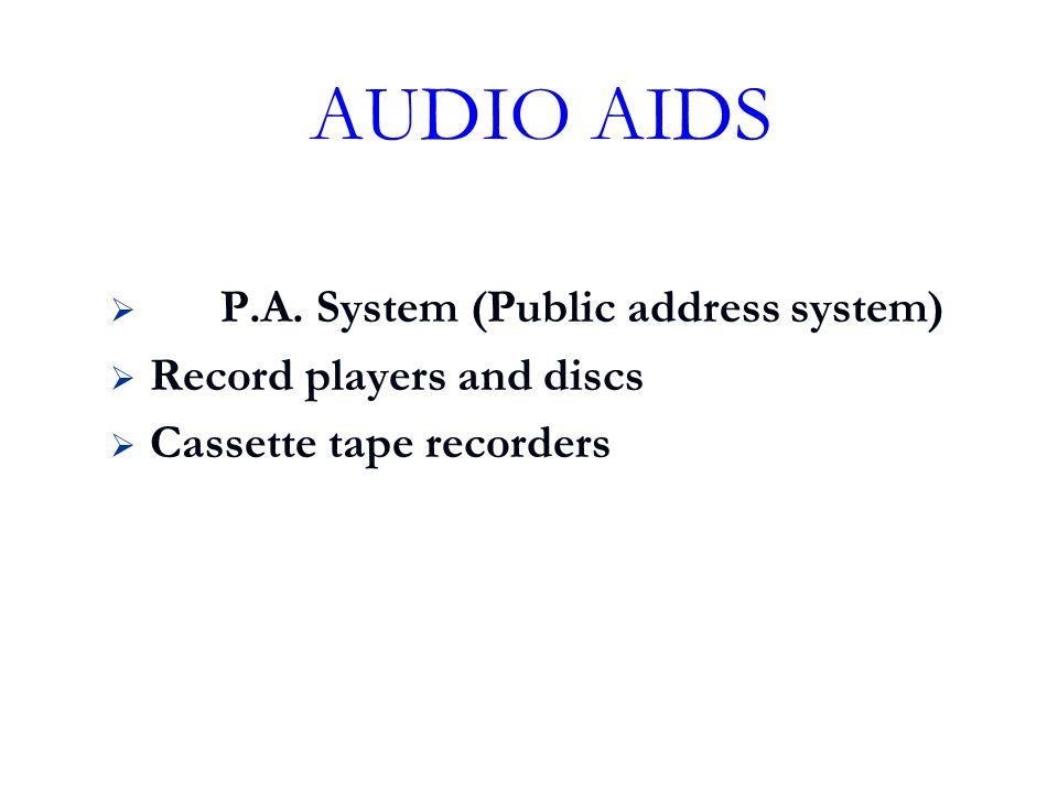 AUDIO AIDS P.A. System (Public address system)