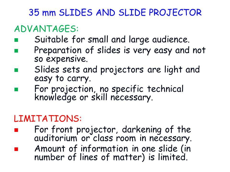 35 mm SLIDES AND SLIDE PROJECTOR
