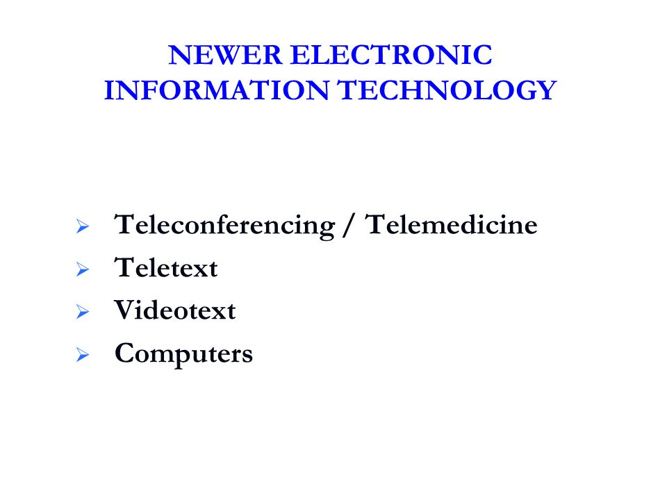 NEWER ELECTRONIC INFORMATION TECHNOLOGY