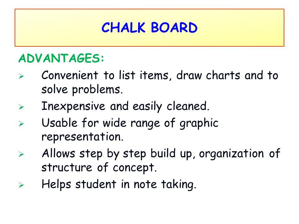 CHALK BOARD ADVANTAGES:
