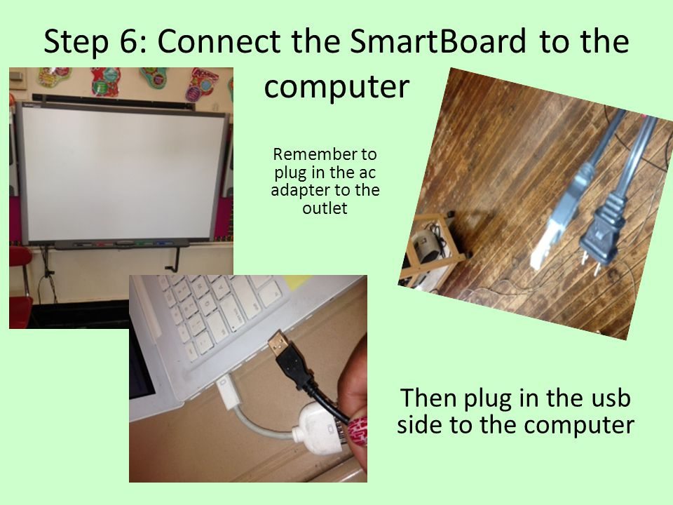 Step 6: Connect the SmartBoard to the computer