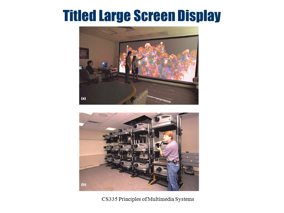 Titled Large Screen Display