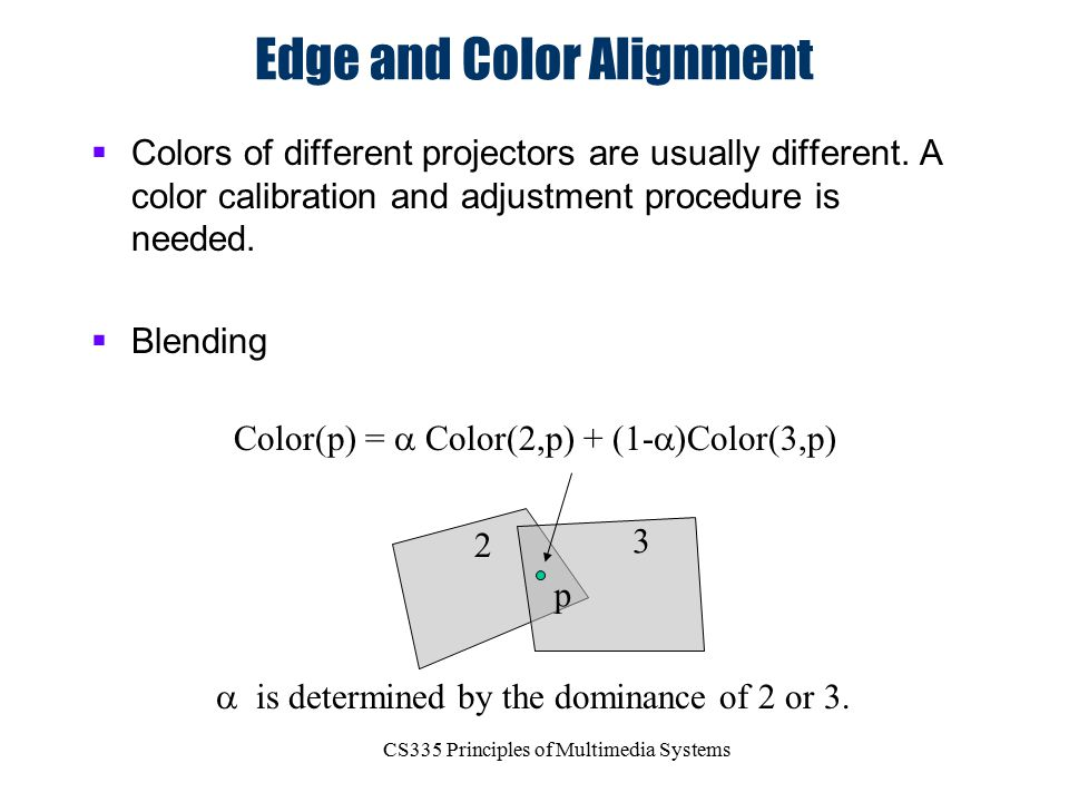 Edge and Color Alignment