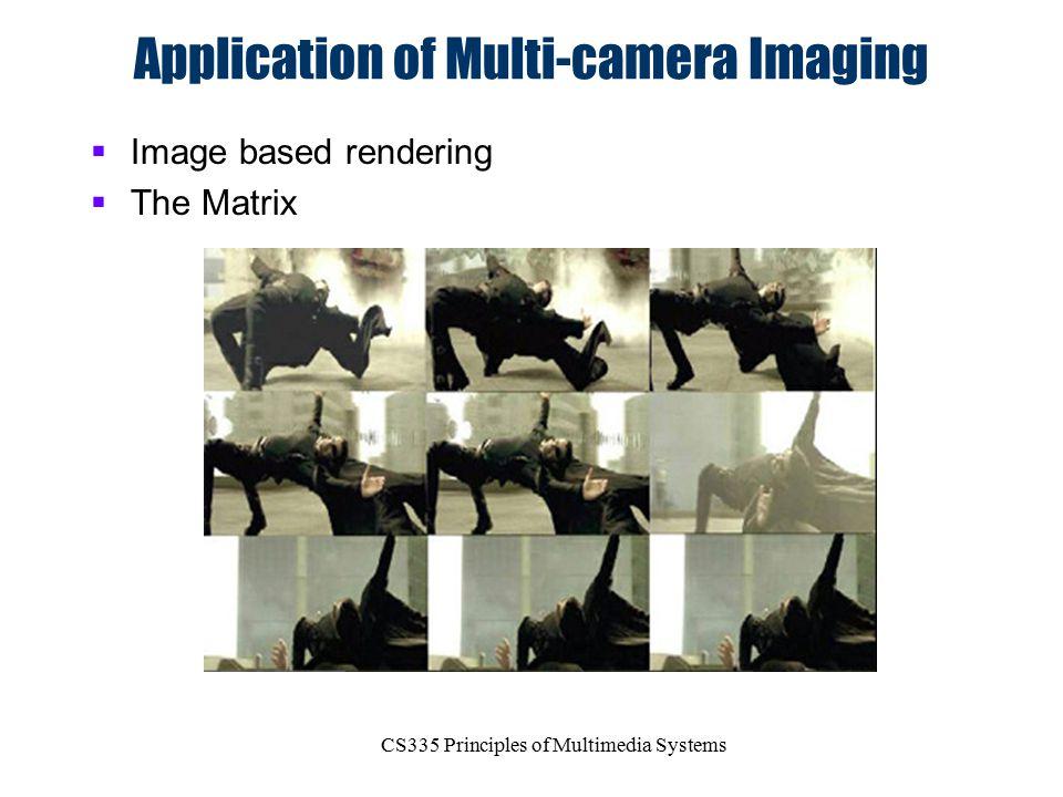 Application of Multi-camera Imaging