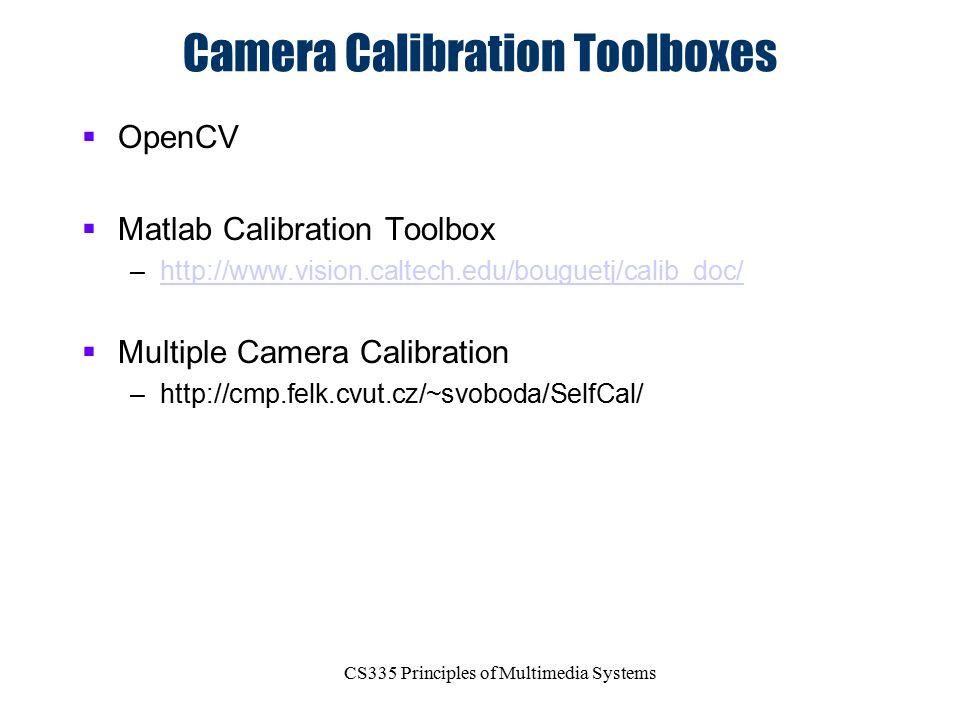 Camera Calibration Toolboxes