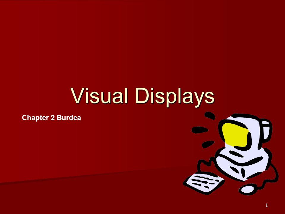 Visual Displays Chapter 2 Burdea