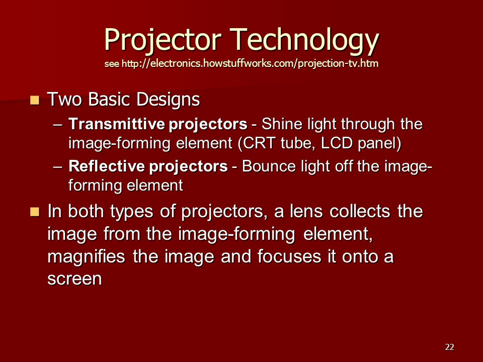Photo courtesy Texas Instruments MEMS projector using three DMD chips