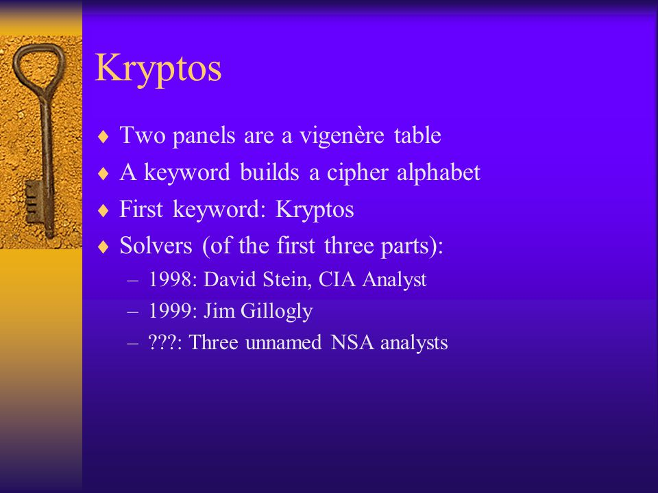 Kryptos Two panels are a vigenère table