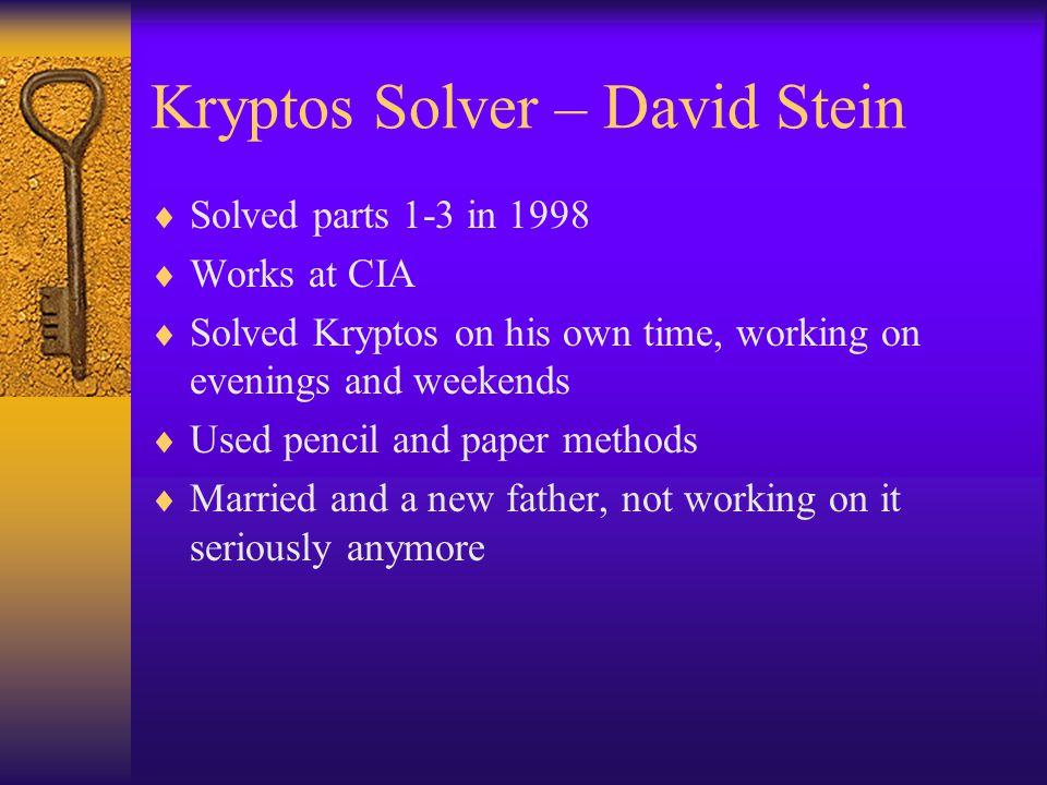Kryptos Solver – David Stein