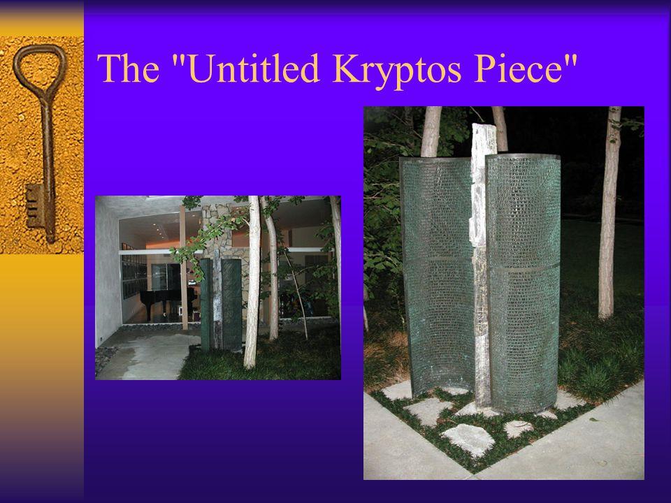 The Untitled Kryptos Piece