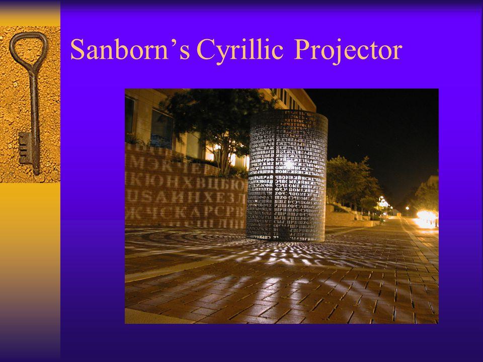 Sanborn's Cyrillic Projector