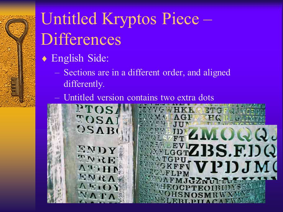 Untitled Kryptos Piece – Differences