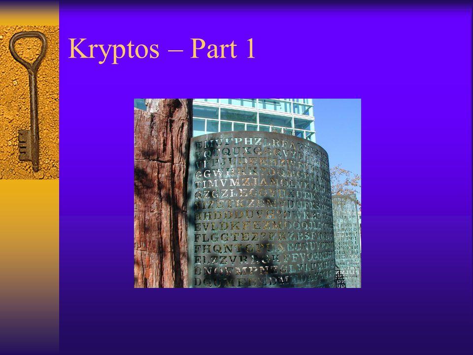 Kryptos – Part 1