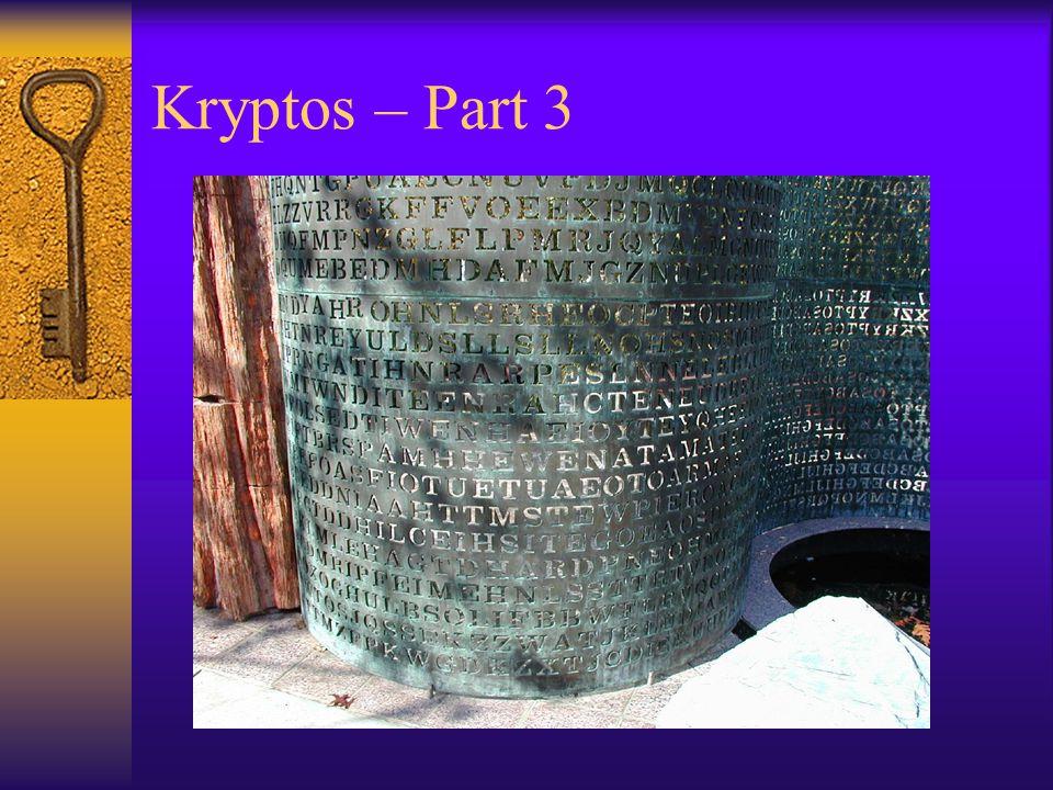 Kryptos – Part 3