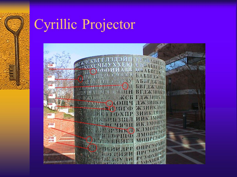 Cyrillic Projector
