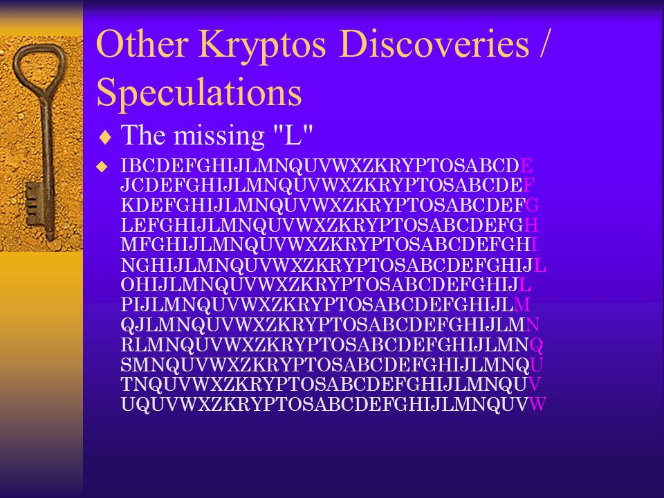 Other Kryptos Discoveries / Speculations