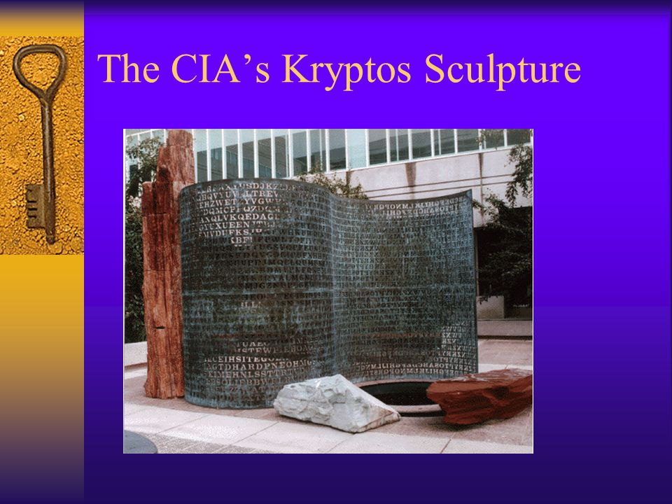 The CIA's Kryptos Sculpture