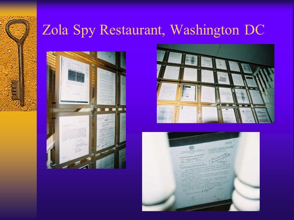 Zola Spy Restaurant, Washington DC