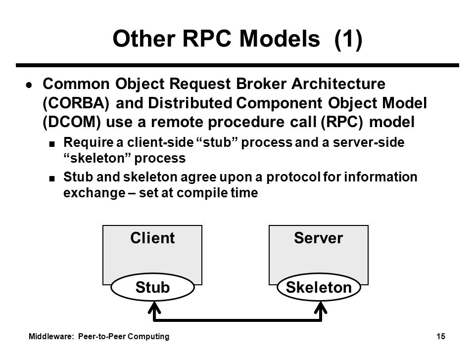 Other RPC Models (1)