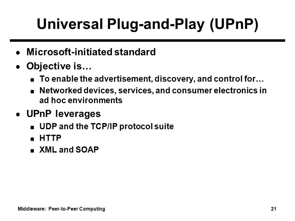 Universal Plug-and-Play (UPnP)