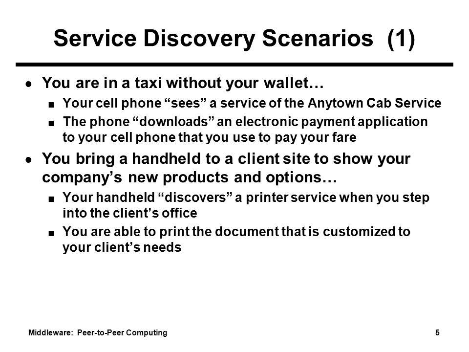 Service Discovery Scenarios (1)