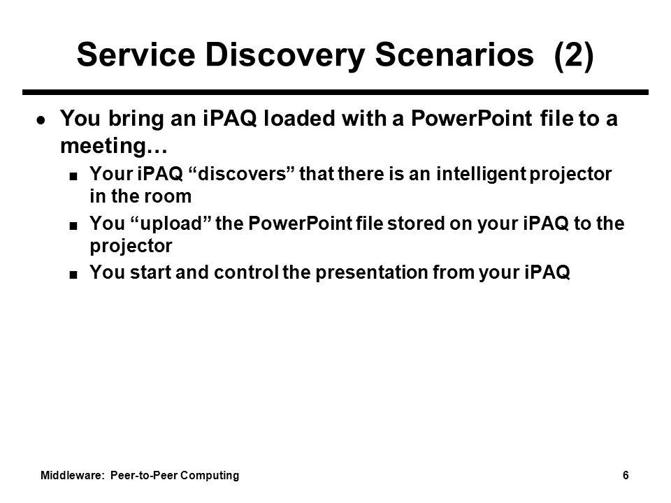 Service Discovery Scenarios (2)
