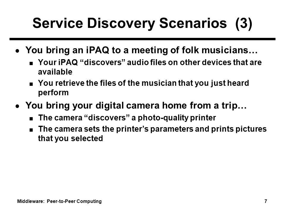 Service Discovery Scenarios (3)