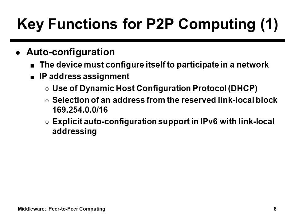 Key Functions for P2P Computing (1)