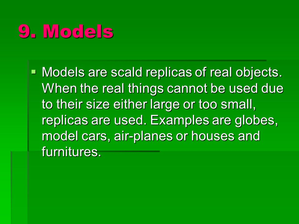 9. Models