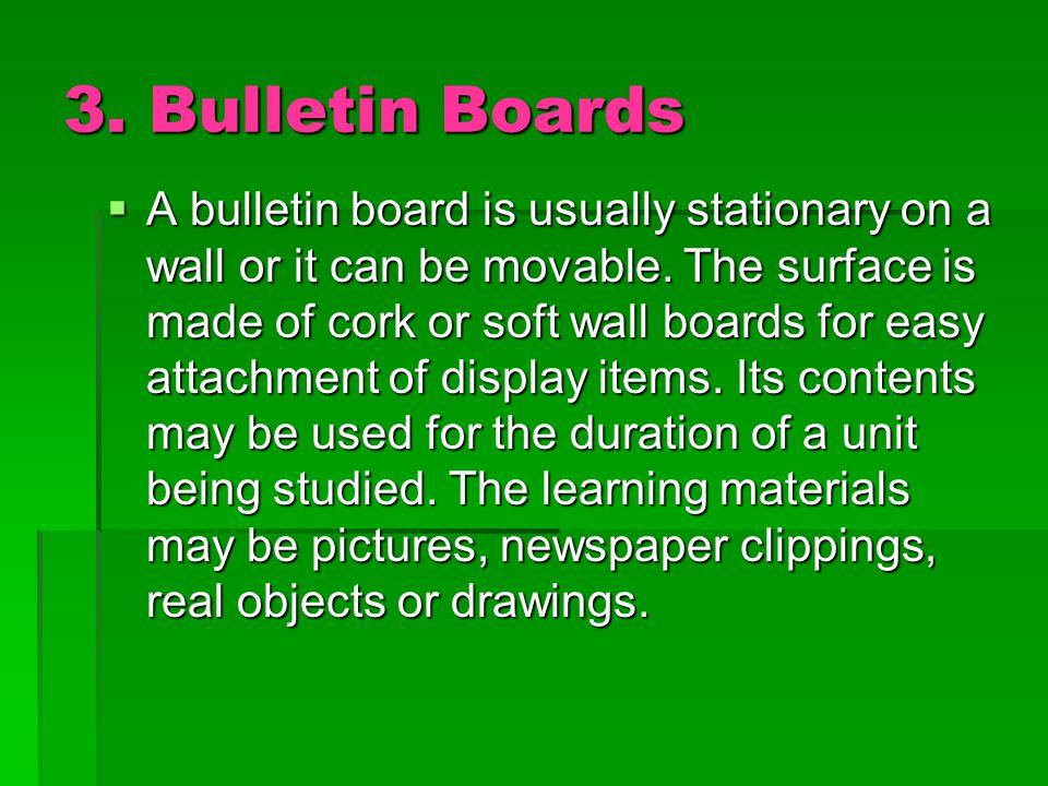 3. Bulletin Boards