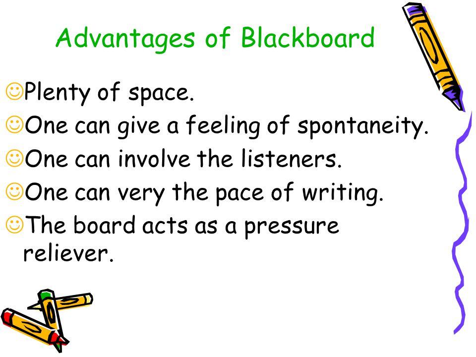 Advantages of Blackboard