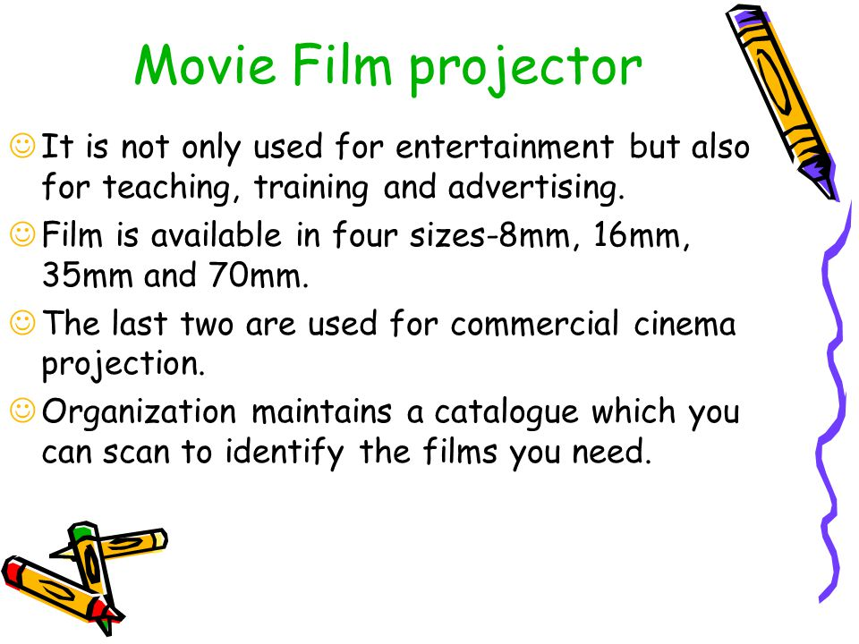 Movie Film projector It is not only used for entertainment but also for teaching, training and advertising.