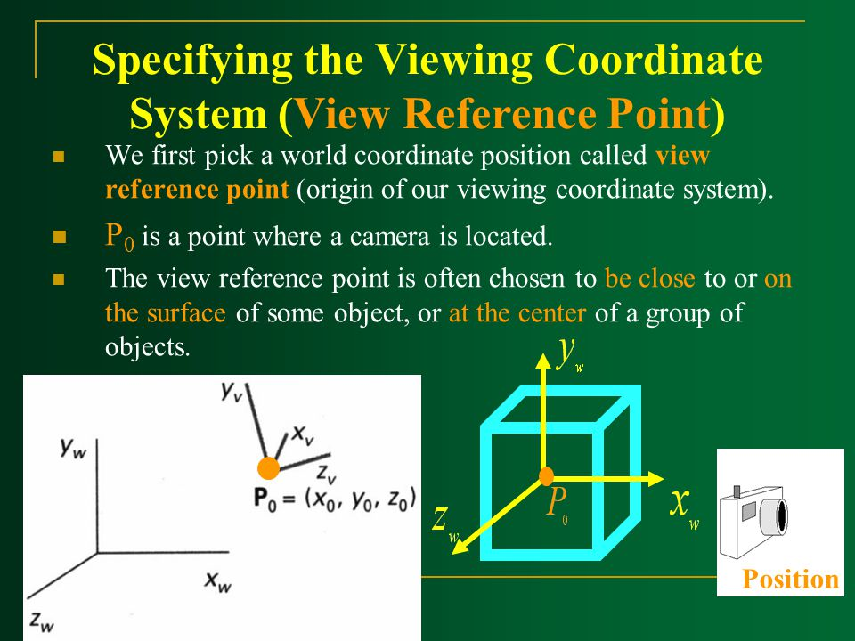 Specifying the Viewing Coordinate System (View Reference Point)