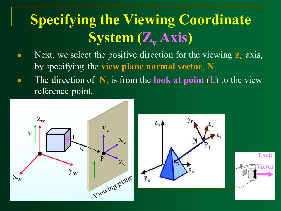 Specifying the Viewing Coordinate System (Zv Axis)