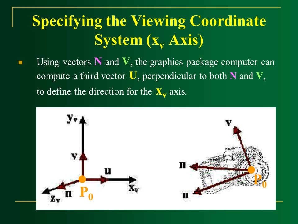 Specifying the Viewing Coordinate System (xv Axis)