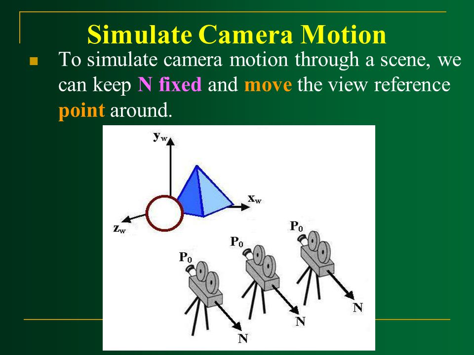 Simulate Camera Motion