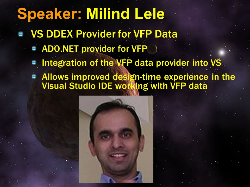 Speaker: Milind Lele VS DDEX Provider for VFP Data