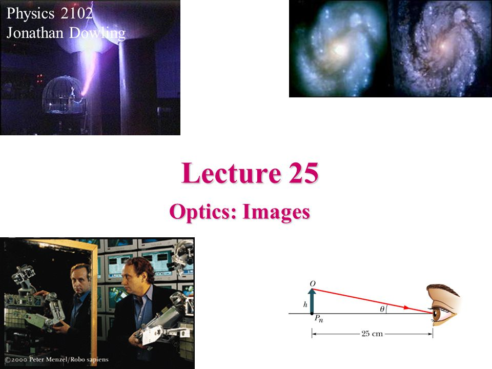 Physics 2102 Jonathan Dowling Lecture 25 Optics: Images