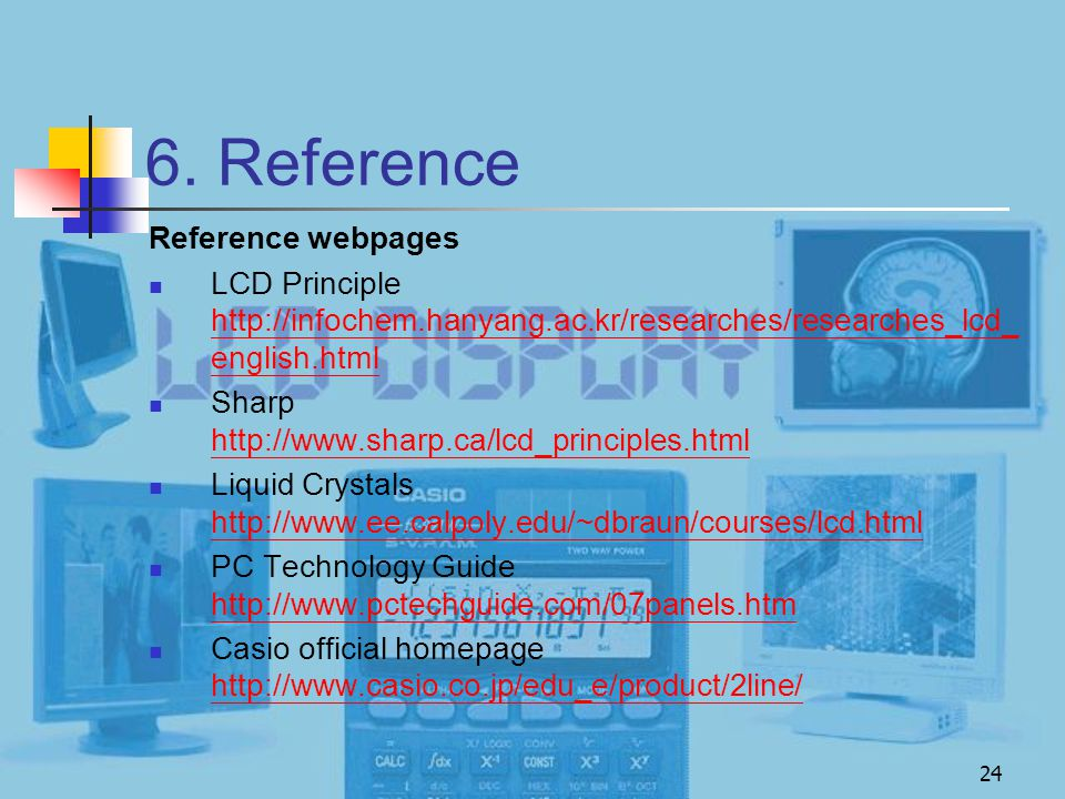 6. Reference Reference webpages