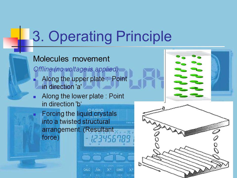 3. Operating Principle Molecules movement