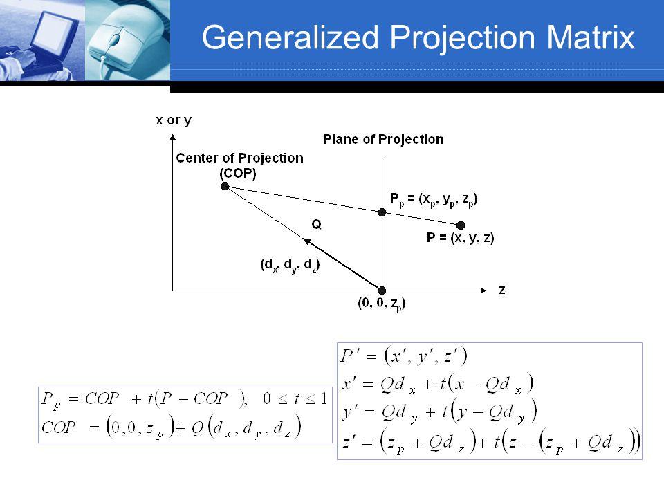 Generalized Projection Matrix