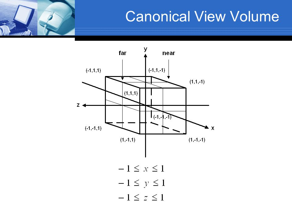 Canonical View Volume