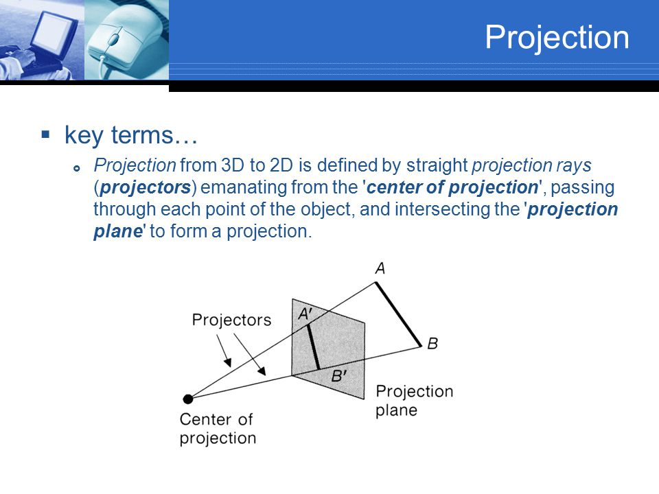 Projection key terms…